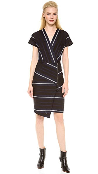 Veronica Beard The Short Sleeve Zip Front Dress