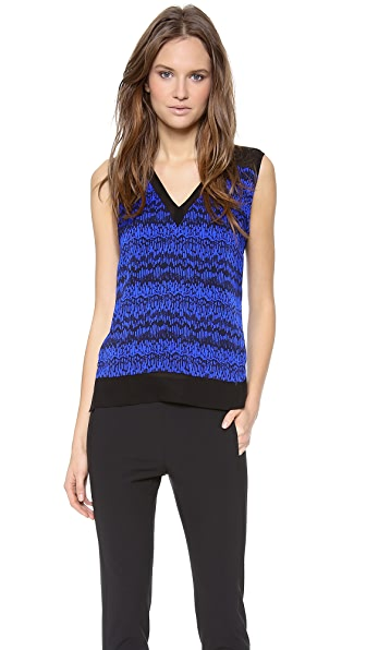 Veronica Beard The V Neck Tank