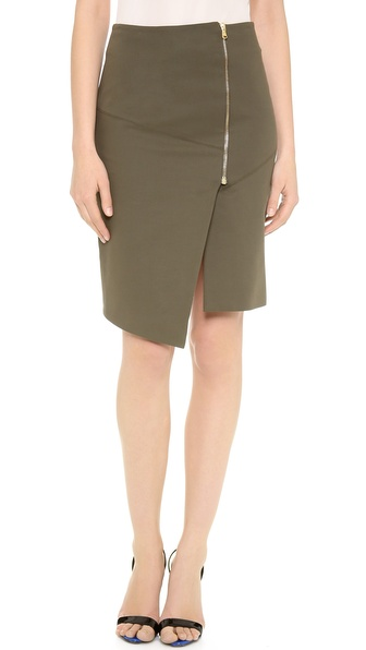 Veronica Beard Zip Front Pencil Skirt