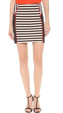 Veronica Beard Stripe Knit Miniskirt