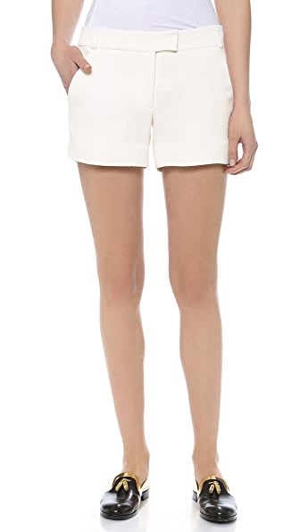Veronica Beard Textured Suiting Tailored Shorts