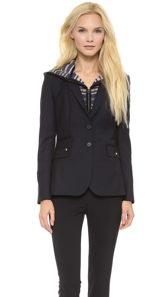 Veronica Beard Jacket with Hoodie Dickey