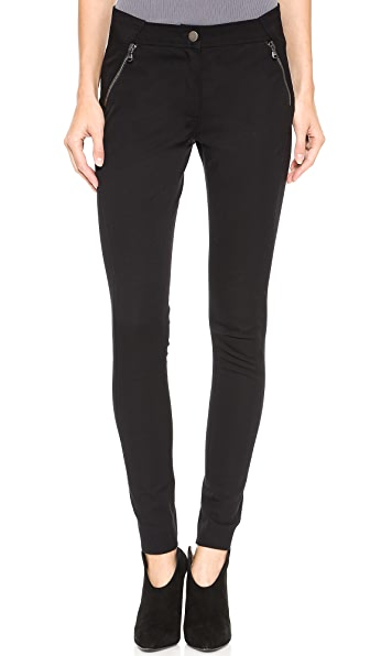 Veronica Beard Bi-Stretch Seamed Moto Pants