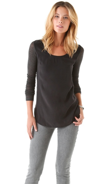 Victoria Beckham Silk & Jersey Top