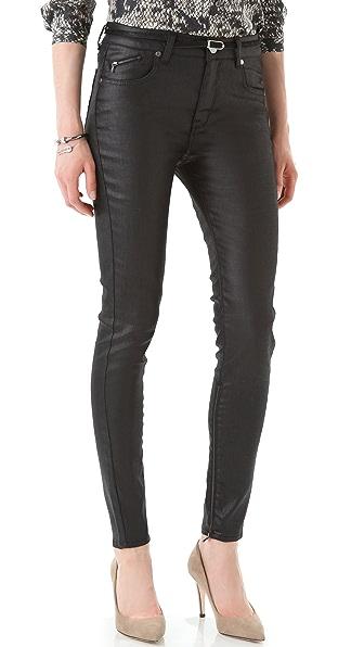 Victoria Beckham High Waist Zip Skinny Jeans