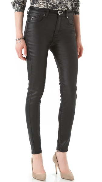 Victoria Beckham High Waist Zip Skinny Jeans