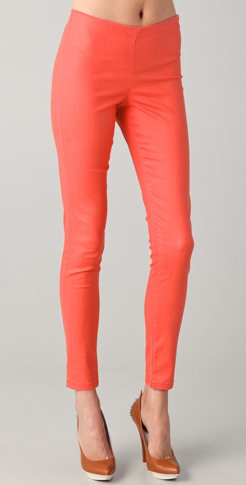 Victoria Beckham Wax Zip Legging Jeans