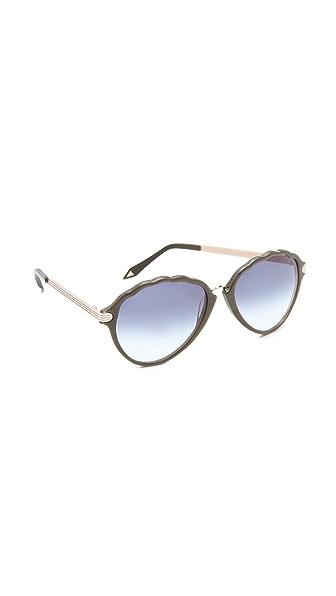 Victoria Beckham Baroque Aviator Sunglasses