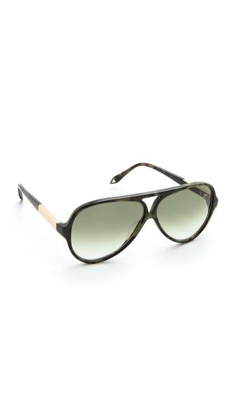 Victoria Beckham Keyhole Aviator Sunglasses