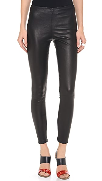 Victoria Beckham Leather Leggings