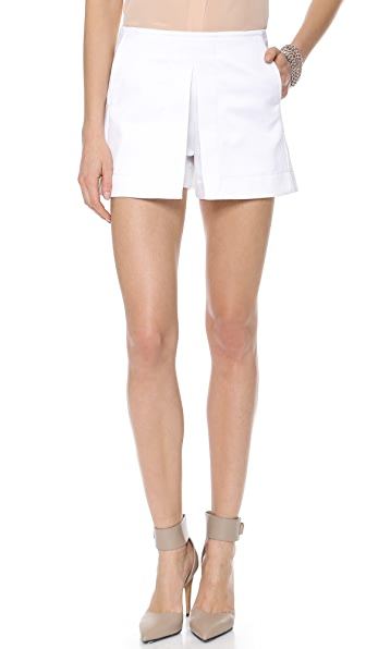 Victoria Beckham Front Pleat Shorts