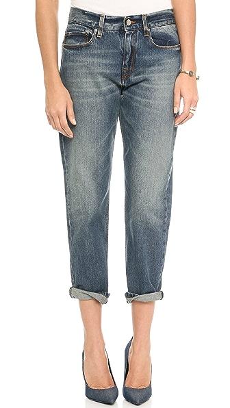 Victoria Beckham Slouch Boyfriend Crop Jeans