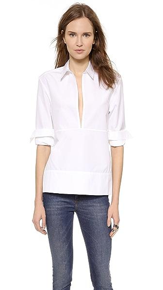 Victoria Beckham Victoria Beckham Deep V Shirt (White)