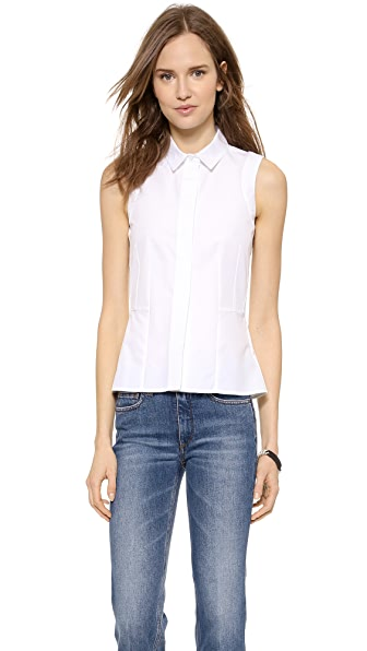 Victoria Beckham Victoria Beckham Sleeveless Sports Shirt (White)
