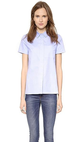 Victoria Beckham Victoria Beckham Short Sleeve Shirt (Blue)