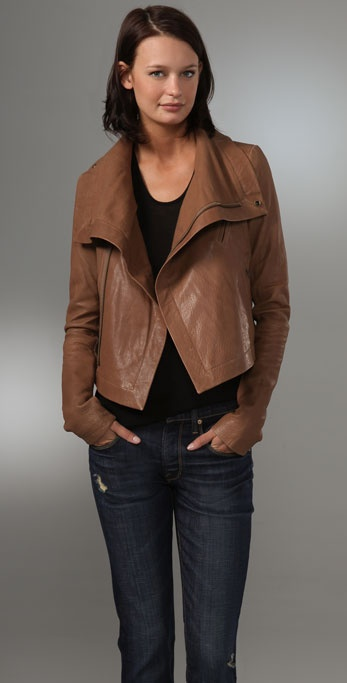 VEDA Leather Max Classic Jacket