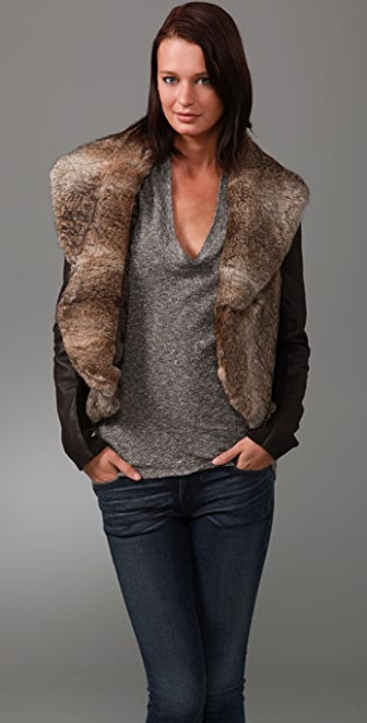VEDA Fur Holiday Jacket