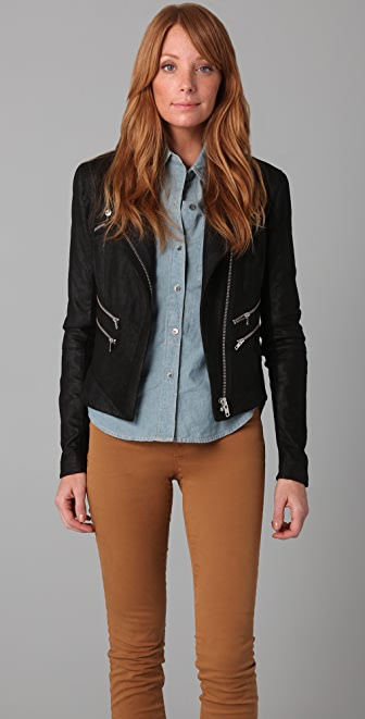 VEDA Hendrix Leather Jacket