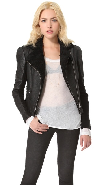 VEDA Globe Shearling Jacket