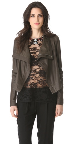 VEDA Max Summer Leather Jacket