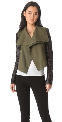 VEDA Max Army Leather Jacket
