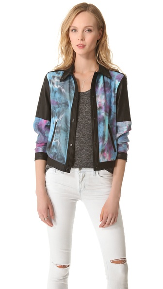 VEDA Ezra Jacket with Leather Trim