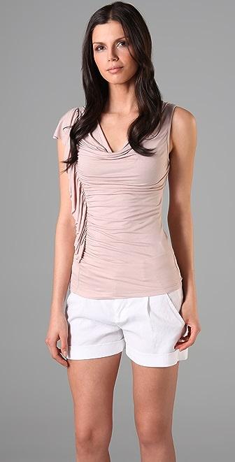 Velvet Paloma Draped Cowl Shirt