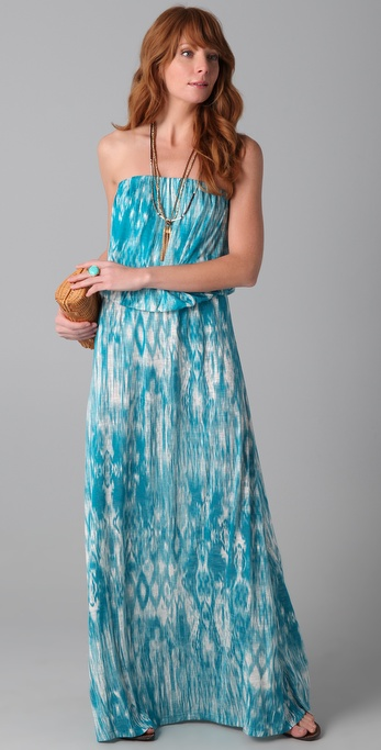 Velvet Leila Strapless Maxi Dress