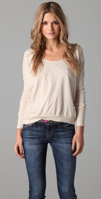 Velvet Saran Long Sleeve Top