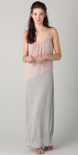 Velvet Johanna Luxe Combo Maxi Dress