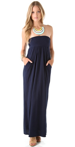 Velvet Morainn Gauzy Whisper Strapless Maxi Dress