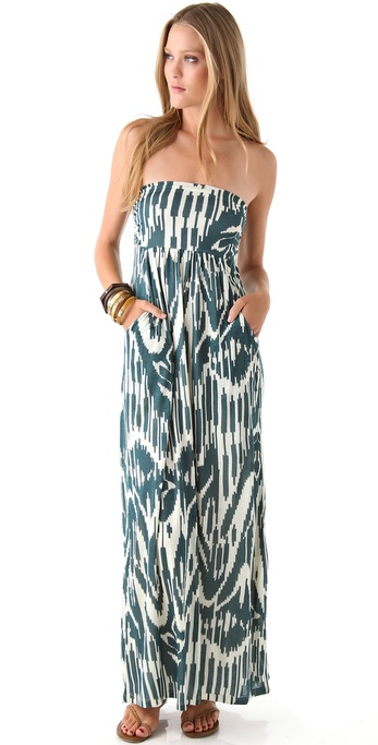 Velvet Maija Strapless Maxi Dress
