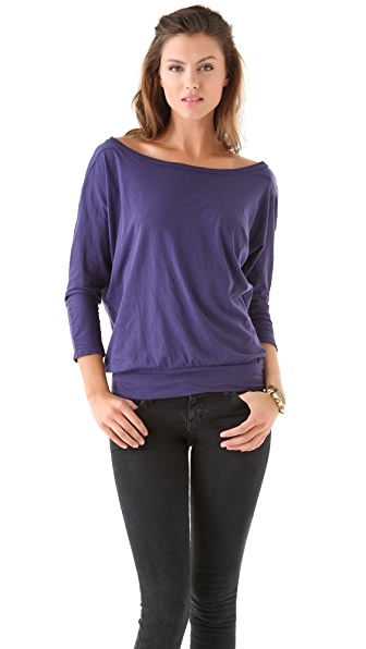 Velvet Serina Sheer Jersey Top