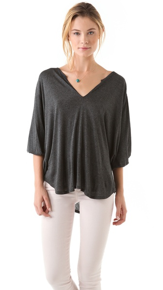 Velvet Theodora Melange Drape Top