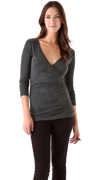 Velvet Jameka Melange V Neck Top