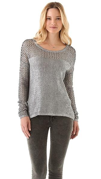 Velvet Bev Foil Sweater