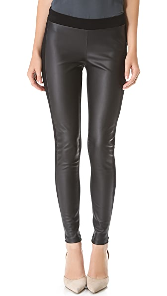 Velvet Leticia Leggings with Faux Leather Detail