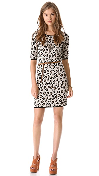 Velvet Leopard Sweater Dress