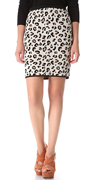 Velvet Belen Leopard Pencil Skirt