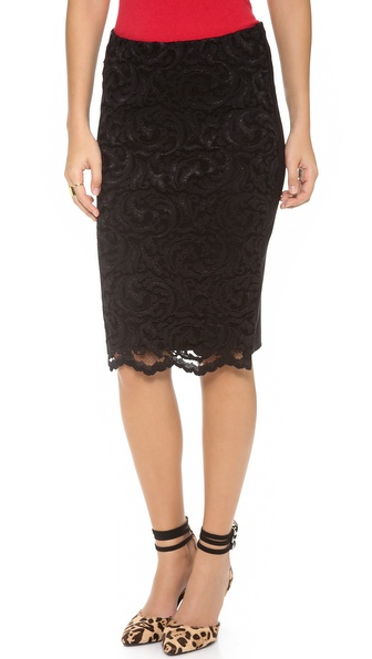 Velvet Stretch Lace Skirt