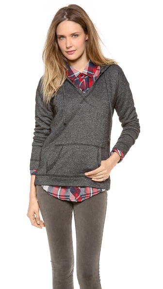 Velvet Fleece Boucle Hooded Sweatshirt