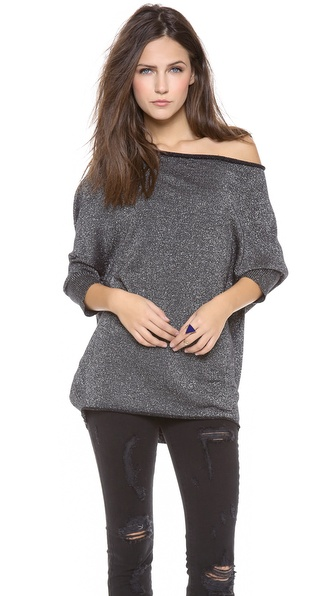 Velvet Metallic Shine Sweater