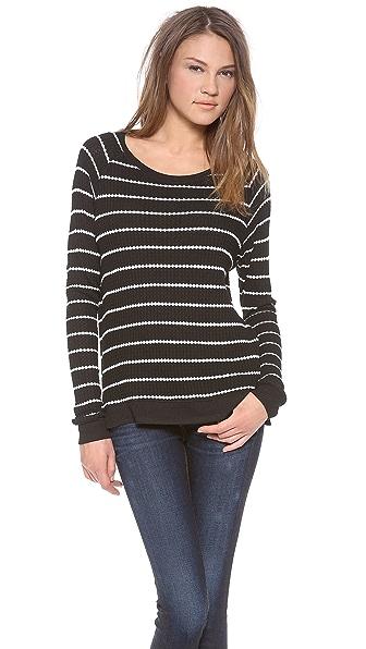 Velvet Becky Striped Thermal Sweater
