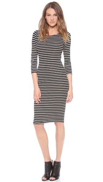 Velvet Pandora Striped Dress