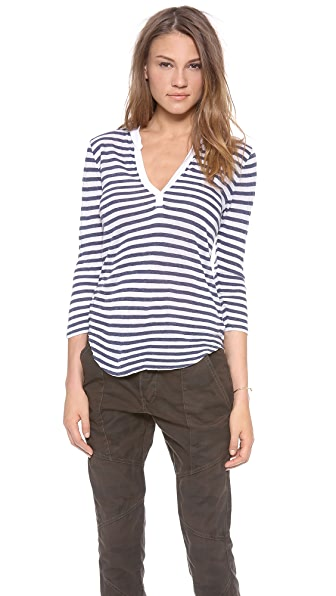 Velvet Michelle Cotton Striped Top
