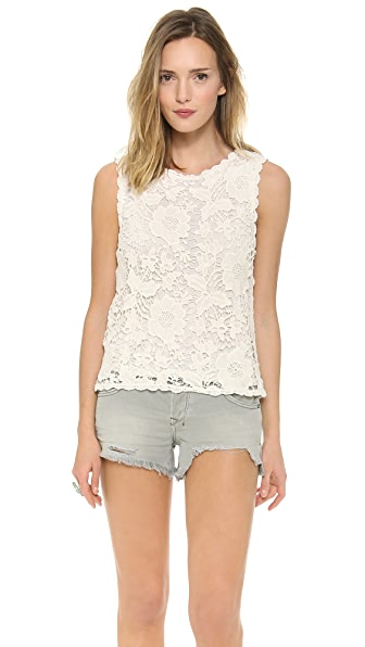 Velvet Shireen Crochet Lace Top