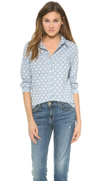 Velvet Neela Button Down