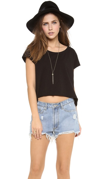 Velvet Maxina Slub Crop Top