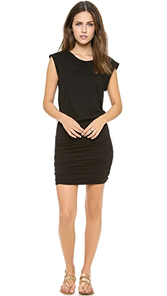 Velvet Elerie Ruched Slub Dress