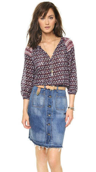 Velvet Josilin Gauze Top
